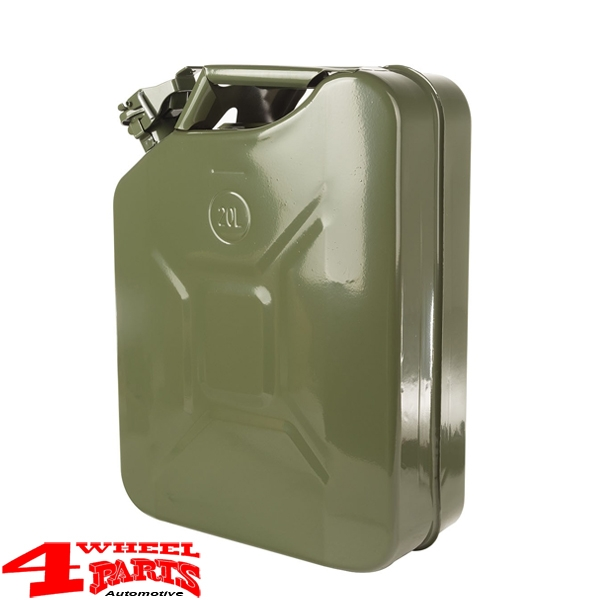 Steel Jerry Can 20 L Steel Nato Green from Rugged Ridge