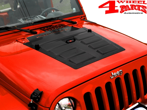 Hood Application Black Steel Jeep Wrangler JK year 07-18