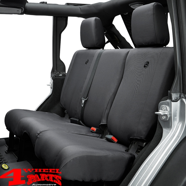 Seat Cover Rear Black Diamond Bestop Wrangler JK year 2007 and 13-18 4-doors