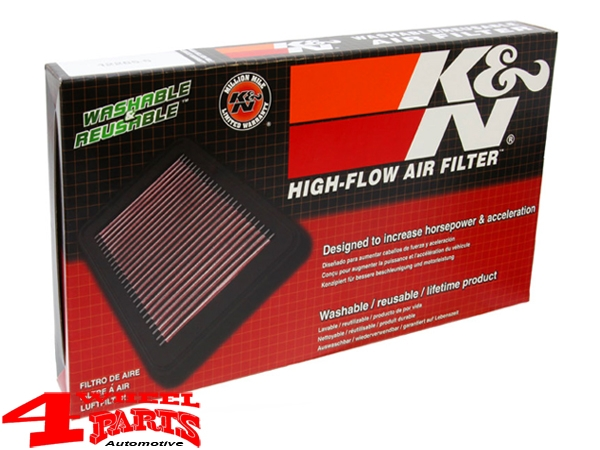 Sport Air Filter K&N Cherokee KL year 19-20 with 2,4 + 3,2 L US Modell