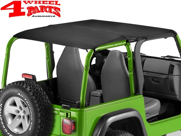 Header Bikini Top Verdeck Strapless Bestop Black Diamond Jeep Wrangler TJ 03-06