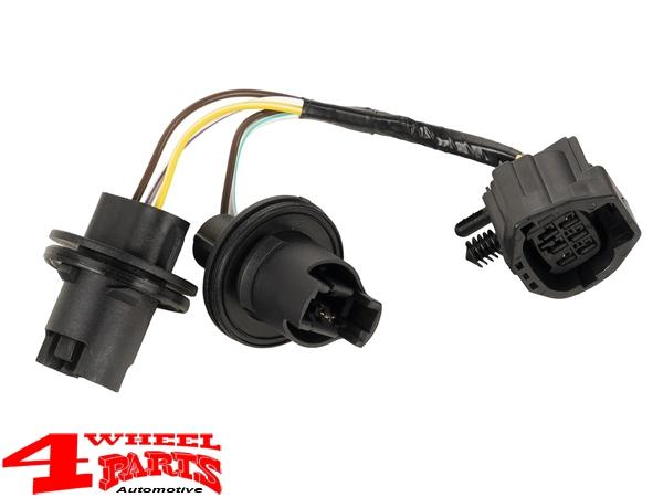 kabelsatz für us rückleuchte mit rotem glas rücklicht jeep wrangler jk bj.  07-18 us modell   4 wheel parts  4 wheel parts