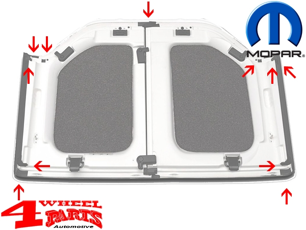 Hardtop Foam Blocker Seal Kit Mopar JK 11-18 2- or 4-doors