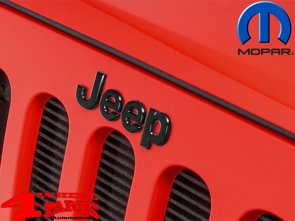 Grille Overlay Jeep Badge Black Wrangler JK year 07-18