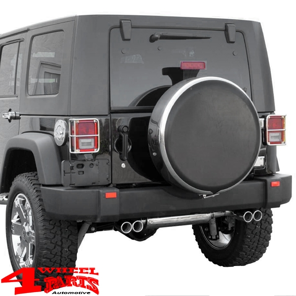 Tire Cover Stainless Steel lockable 245/75R17 Jeep Wrangler JK year 10-18