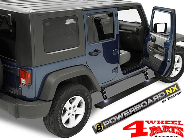 Powered Running board Steps NX Electrically Wrangler JK year 07-18 4-doors