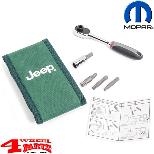 "Hardtop and Door Tool Kit 6 pieces ""Jeep"" Wrangler JK 07-18"