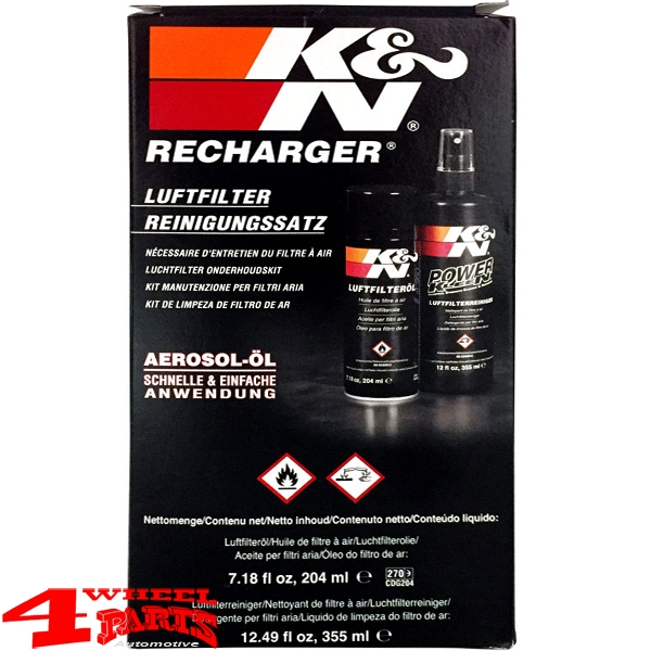 Sport Air Filter K&N Care Service Kit Oil Spray and Cleaner