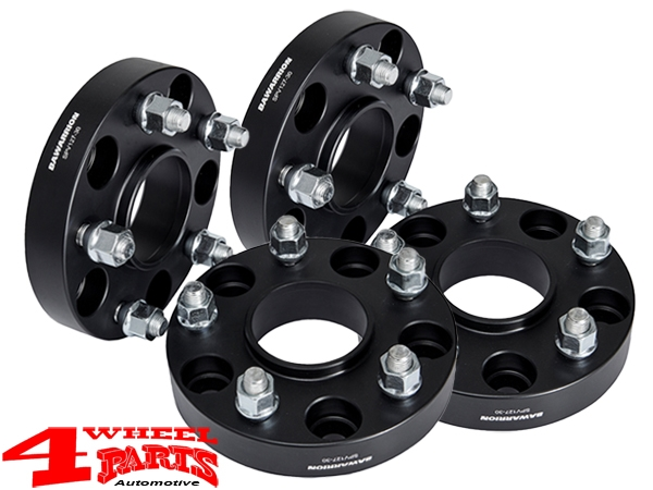 Wheel Spacer Kit 50mm Bawarrion with TÜV 4 pce. Wrangler JK year 07-18