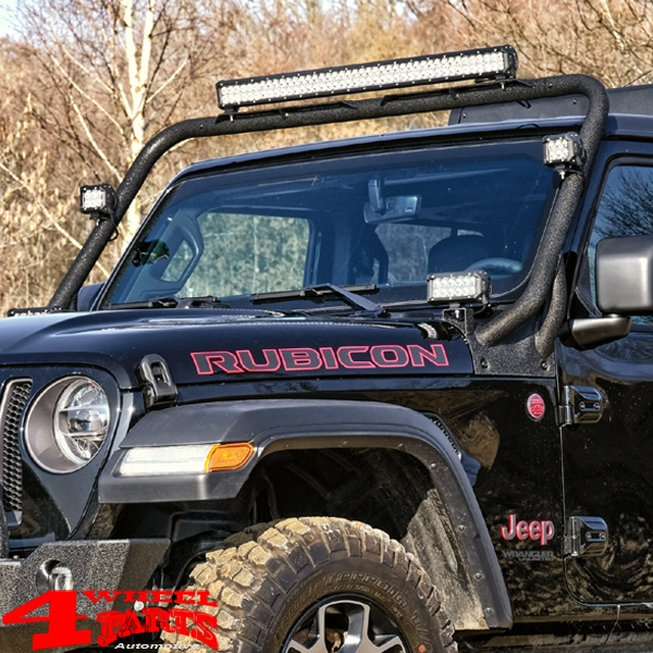 Light Bar Frame Hinges Mounted Black Wrangler JL year 18-19