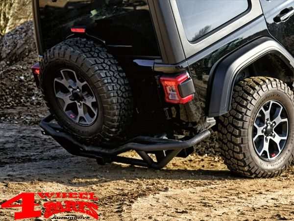 Rear Bumper Black Rock textured Wrangler JL year 18-19