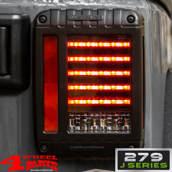 Tail Light Set LED J.W. with Side Marker Wrangler JK year 07-18