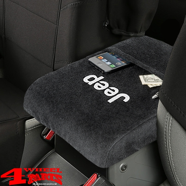 "Arm Rest Pad Cover Velour with ""Jeep"" Logo Wrangler JK year 07-10"