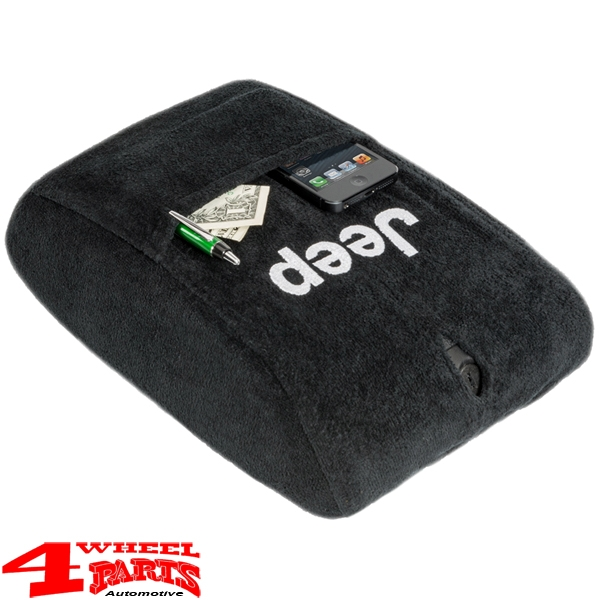 "Arm Rest Pad Cover Velour with ""Jeep"" Logo Wrangler JK year 11-18"