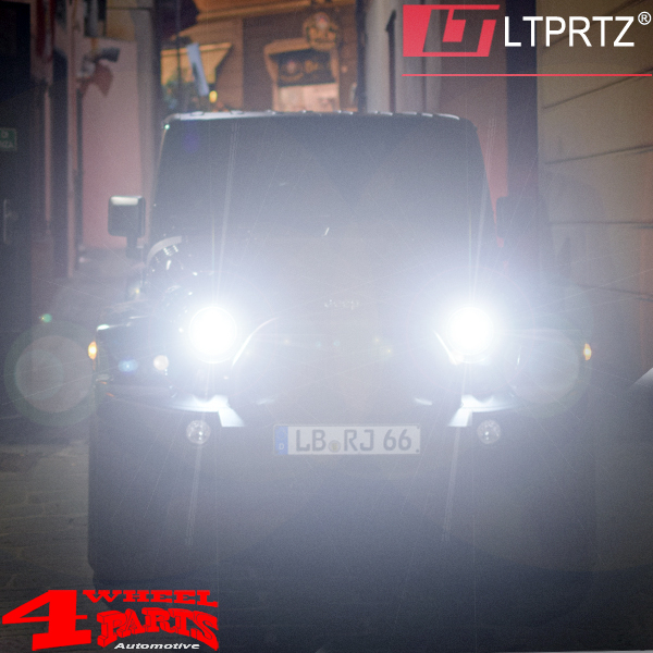 LED Headlight Pair Black from LTPRTZ Wrangler JK year 07-18