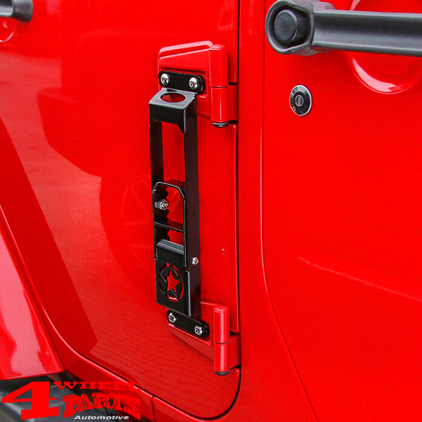 Side Step Black on Door Hinge Jeep Wrangler JK year 07-18