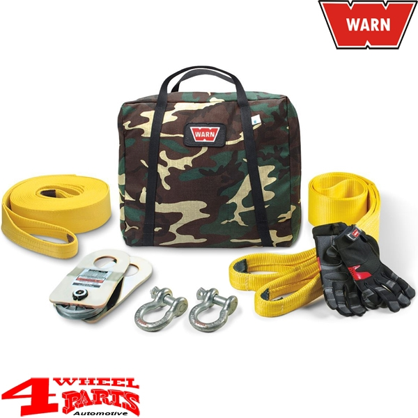 Recovery Kit and Rescue Set WARN incl. 9700kg Recovery Strap