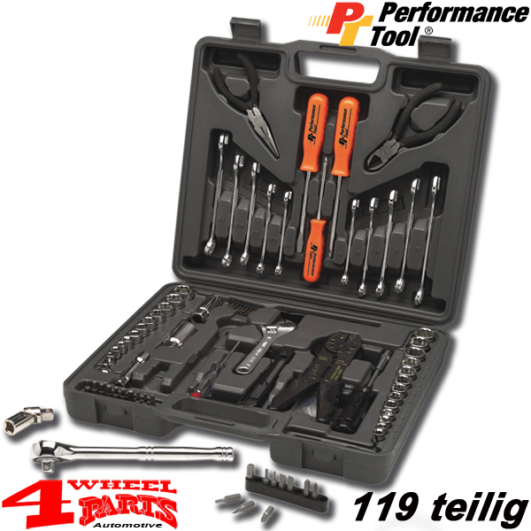 Tool Box 119 pieces - with inch, metrical and electro Tools