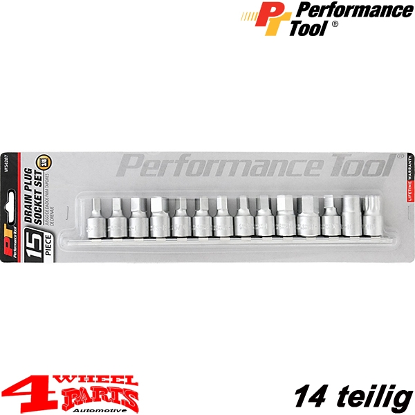 "Drain Plug Socket Set 14 pieces 3/8"" Drive"