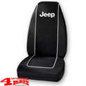 "Seat Cover Front Black with ""Jeep"" Logo Wrangler YJ + TJ year 87-02"