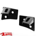 Windshield Light Brackets Black Satin Wrangler JK year 07-18
