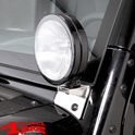 Windshield Light Brackets Stainless Steel Wrangler JK year 07-18