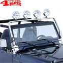 Light Bar Frame Hinges Mounted Stainless Steel Jeep Wrangler TJ year 97-02