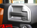 Silver Door Handle Interior Cover 2 pce. Jeep Wrangler JK year 11-18