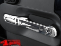 Chrome Door Cover Set Front 2 pce. Wrangler JK year 07-10