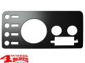 Gauge Cover Steel Black with Radio Holes Jeep CJ year 76-86