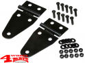 Hood Hinge Set in Black Jeep CJ + Wrangler YJ year 76-95