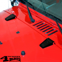 Hood Hinge Cover Kit Black Jeep Wrangler JK year 07-18