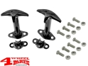 Hood Catch Set in Black Jeep CJ + Wrangler YJ year 41-95