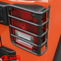 Tail Light Guards Pair Textured Wrangler JK year 07-18