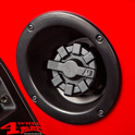 Gas Cap Aluminum Elite Black powder coated Wrangler JK 07-18