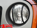 Head Light Guard Set Textured Wrangler JK year 07-18