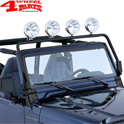 Light Bar Frame Hinges Mounted Black Jeep Wrangler TJ year 97-02