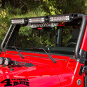Light Bar Frame Hinges Mounted Black with Holder Wrangler TJ year 97-06