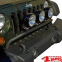 Light Bar Bumper Mounted Black Jeep Wrangler JK 07-18