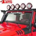 Light Bar Frame Hinges Mounted Black Wrangler JK year 07-18