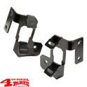 Windshield Light Brackets Dual Black Satin Wrangler JK year 07-18