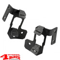 Windshield Light Brackets Dual Black Textured Wrangler JK year 07-18