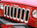 Insert Grill Screen ABS Plastic Chrome Wrangler JK year 07-18