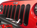 Insert Grill Screen Gloss Black Aluminum Wrangler JK year 07-18