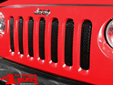 Insert Grill Screen Mesh 3D Steel Gloss Black Wrangler JK year 07-15