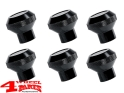 Billet Aluminum Dash Knob Set Black Jeep CJ 76-86