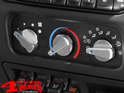 Billet Aluminum Climate Control Knobs Blue Backlit Wrangler TJ year 99-06