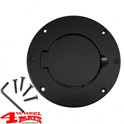 Gas Hatch Cover Black Aluminum Jeep Wrangler TJ year 97-06