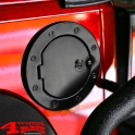 Gas Hatch Cover Locking Black Aluminum Wrangler JK year 07-18