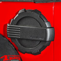 Gas Hatch Cover Black Textured Elite Wrangler JK year 07-18